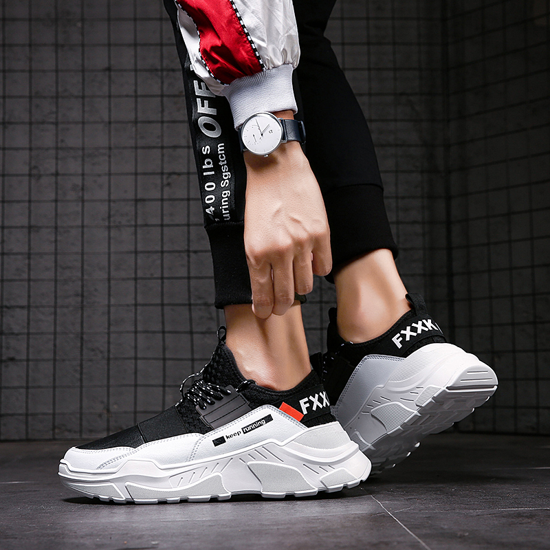 2019 Male Lace-up Men Sneakers High Quality Man Non Slip Comfortable Casual Shoes Mesh Sneakers Breathable Outdoor Walking Shoes 4