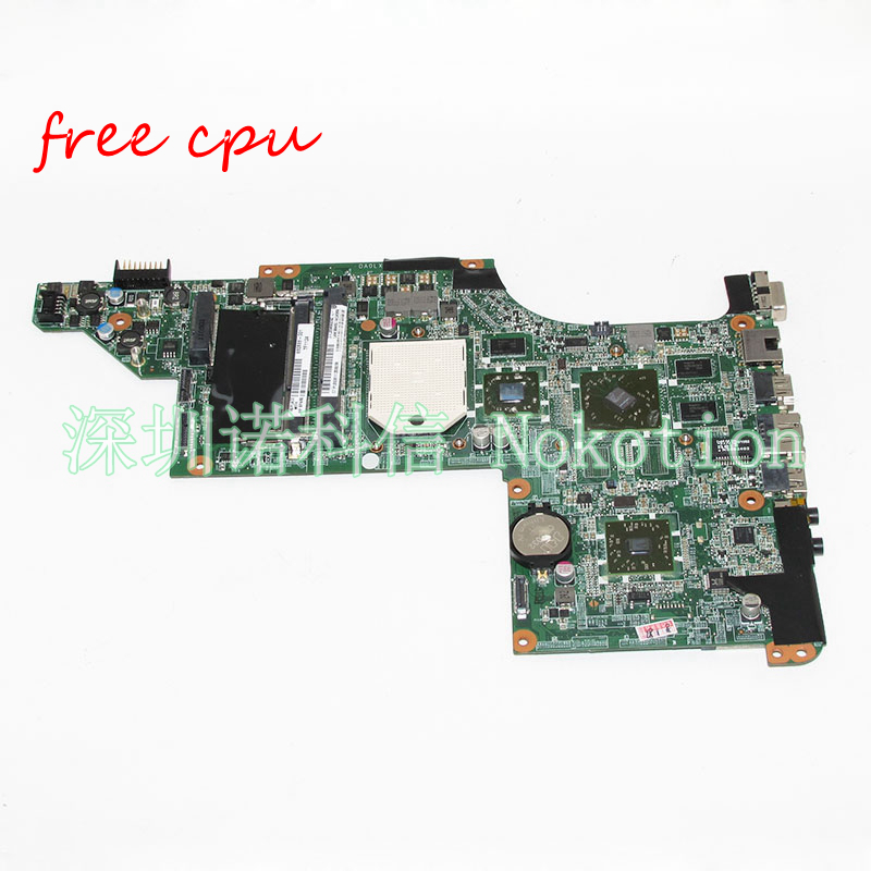 NOKOTION Laptop motherboard for HP DV7-4000 Series 630833-001 DA0LX8MB6E1 Socket S1 DDR3 HD5470 Main board works Free CPU 657146 001 main board for hp pavilion g6 laptop motherboard ddr3 with e450 cpu