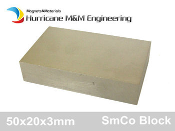 Smco Magnet Block 50x20x3 Mm Grade Yxg18 300 Degree C Operating Temperature Permanent Magnets Rare Earth Magnets 4-60pcs