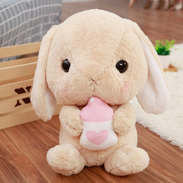 Kawaii Soft Rabbit Kids Toys For Birthday Gifts Plush Animal Design Dolls For Girls Toys For Children Kawaii Rabbit Shape Toys