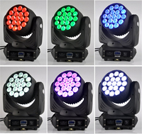 6 adet/grup Led yıkama hareketli kafa 19x15 watt zoom rgbw 4 in 1 hareketli kafa lir sahne ışığı