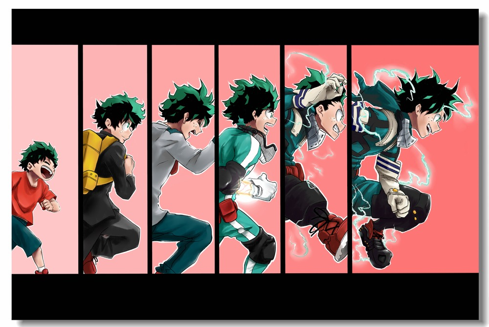 Custom Canvas Wall Mural Evolution Of Deku Midoriya Izuku Poster My Hero Academia Wallpaper Japanese Anime Movie Stickers #0873#