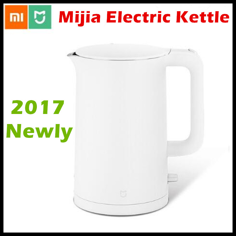 2017 New Xiaomi Mijia Electric Kettle 1.5L Household 304 Stainless Steel Insulated Water Kettle Fast Boiling APO Not Smart Model