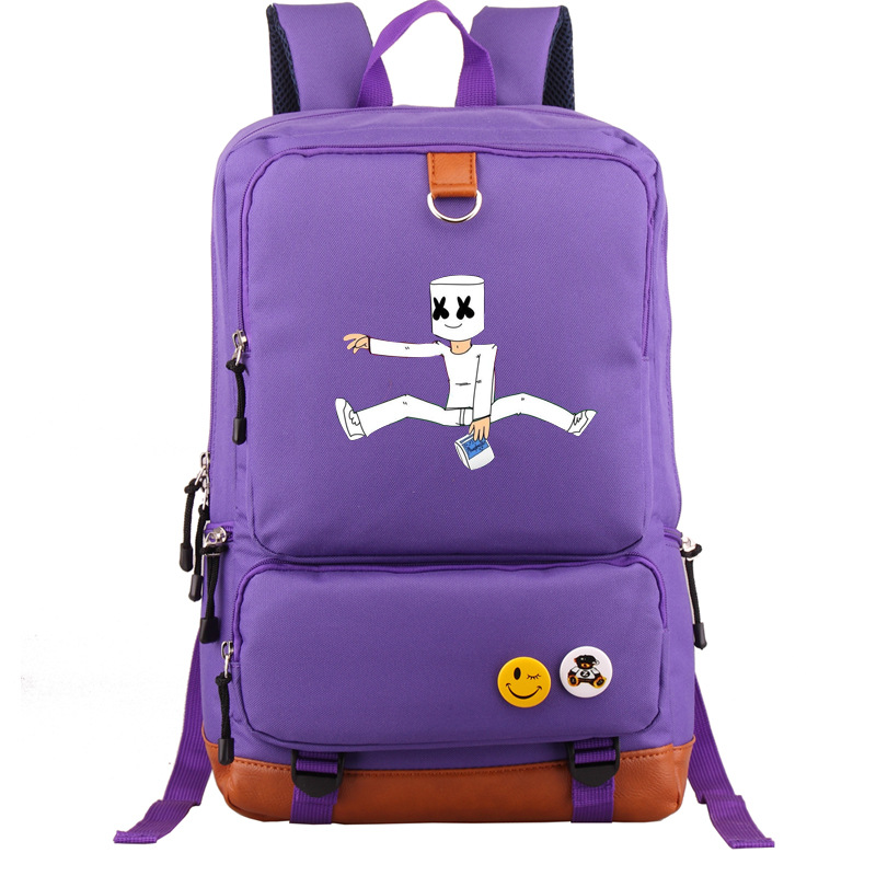 DJ Marshmellow School Bags ZSQH DJ Marshmello New Style Prop Cosplay Costume For Kids Women&Men Cute Marshmallow Backpacks