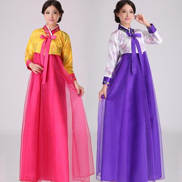 Yeni Promosyon Polyester Kadın Disfraces Için Dans Kostümleri Hmong Elbise Kore Ulusal Kostüm Lady