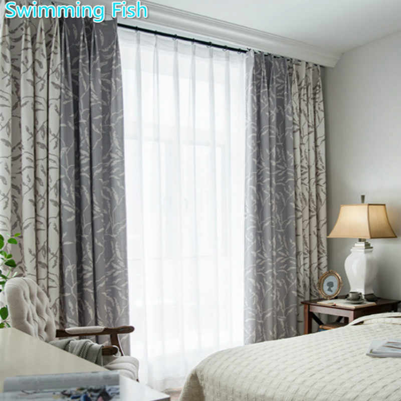 Euro Style Modern Floral Print Blackout Curtain Thick Window Drape For Living Room Bedroom Hotel Decor Curtain Blind Cortina