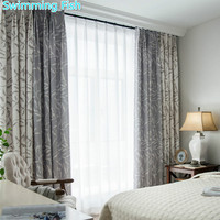 Euro Style Modern Floral Printed Blackout Curtain Thick Curtain Drape For Living Room Bedroom Hotel Window Curtain