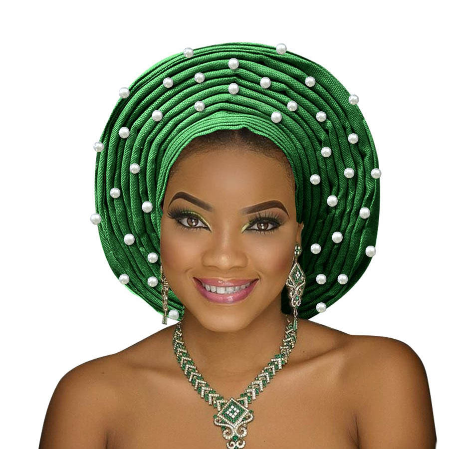 african headtie aso oke gele headtie african head wrap fashion nigerian aso ebi gele turban women aso oke head gear (5)