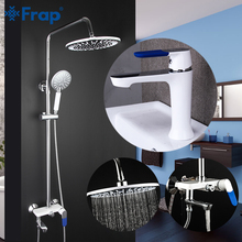 FRAP Shower Faucets chrome fashion bathroom shower mixer faucet bath faucet shower set cold and hot water adjustable tapware цена