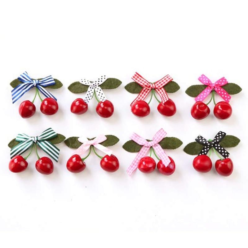 1Pc Girls Hair Clips Cute Cherry Hair Pin Set Children Hairpin Princess Hair Accessories For Girls