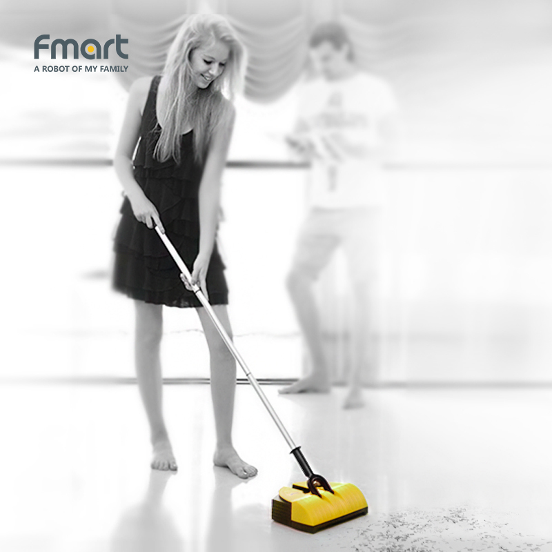 Fmart Electric Broom 2 in 1 Swivel Cordless Cleaner Drag Sweeping Aspirator Household Cleaning Wireless Cleaner Cleaning FM-007  w s018 2 in 1 swivel cordless electric robot cleaner