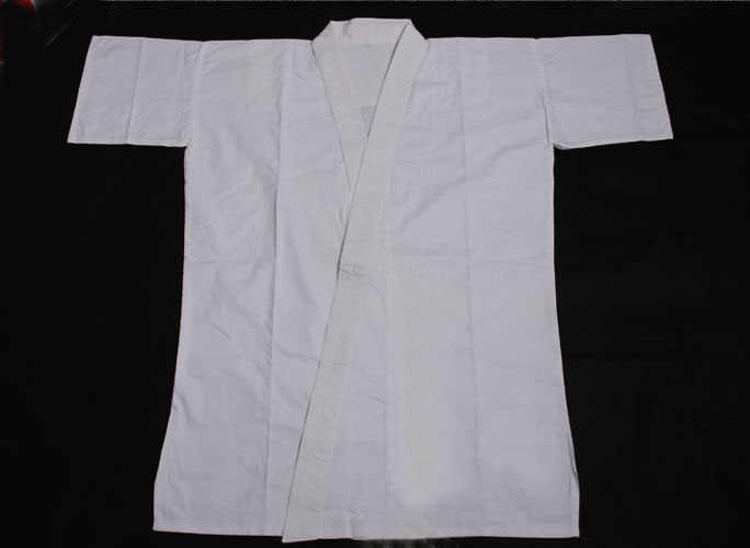ユニセックス100%フル綿剣道スーツサムライtシャツホワイト下着居合道合気道制服