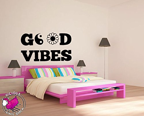 Yin Yang Vinyl Wall Decal Buddha Yoga Good Vibes Peace Sign Daisy Quote  Words Mural Wall Sticker Room Decorative Home Decoration
