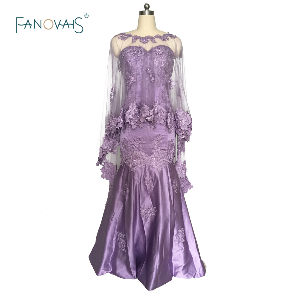 Mermaid Evening Dress with Cape