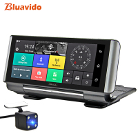 Bluavido 6.86 Inch 4G Car DVR Camera GPS FHD 1080P Android Dash Cam Navigation ADAS Car Video Recorder Dual Lens Reverse image