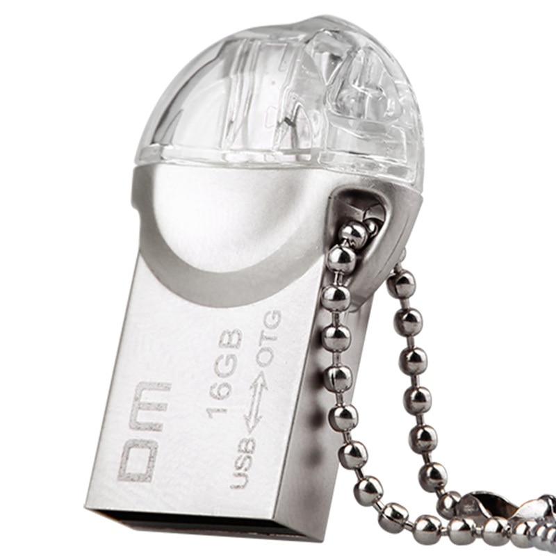OTG USB флэш-назапашвальнік PD002 8GB 16GB 32GB USB2.0 з падвойным раздымам, які выкарыстоўваецца для OTG смартфона і кампутара 100% воданепранікальнага