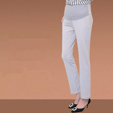 03c3917744faf7 OL Maternity Pants Office Laides Formal Work Black Trousers Elastic High  Waist Straight Pregnancy Pants for Pregnant Women C167