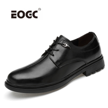 Купить с кэшбэком New Arrival Spring Autumn Men Shoes Classic Business Formal Oxfords Natural leather Shoes Men Wedding Dress Shoes Dropshipping
