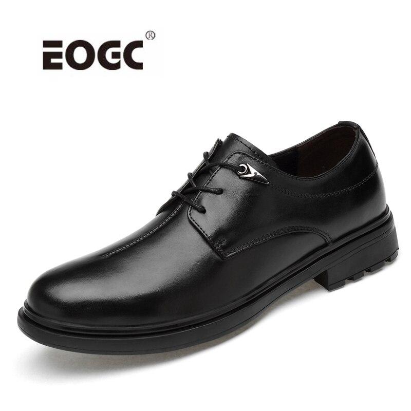 새로운 도착 봄 가을 남성 신발 클래식 비즈니스 공식 oxfords 천연 가죽 신발 남자 웨딩 드레스 신발 dropshipping-에서포멀 슈즈부터 신발 의  그룹 1