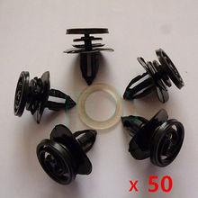 50x per audi a4 porte interne card fastener pinze trim pannello di montaggio accessori auto car styling