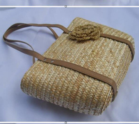 35x23CM Popular Recommended International Online Series Wheat Stem Shoulder Straw Bag Europe And The United States