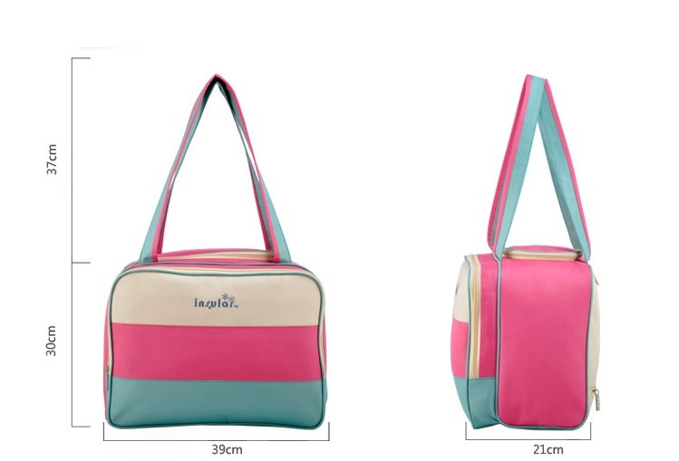 insular Colorful stripe diaper bag multifunctional waterproof baby care nappy mummy bag mother Shoulder Tote stroller bags 3