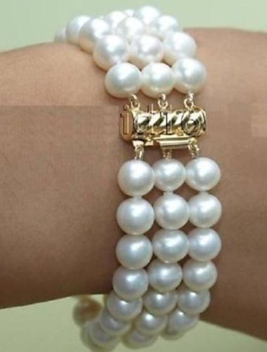 FREE SHIPPING HOT sell new Style >>>>NEW 7.5-8 9-10 MM white PEARL BRACELET free shipping new0 new0 ksd203ac2