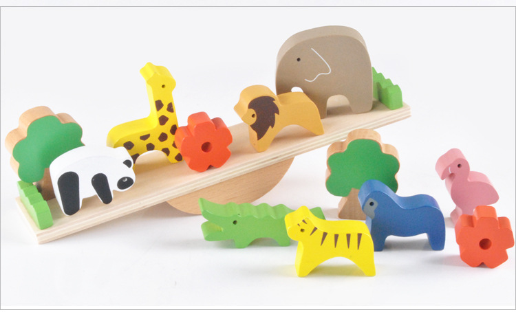 Child early educational toys Alice Board cartoon animal zoo wood blocks hand crafted Brain Teaser candy color gift for boy girl dayan 5 zhanchi 3x3x3 brain teaser magic iq cube white