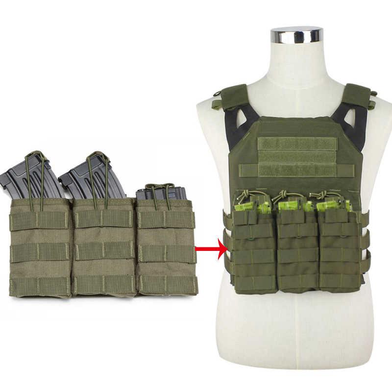 ยุทธวิธี Single/Double/Triple Molle นิตยสารกระเป๋ากองทัพทหาร Vest กระเป๋าเปิดด้านบนตลับหมึกกระเป๋า