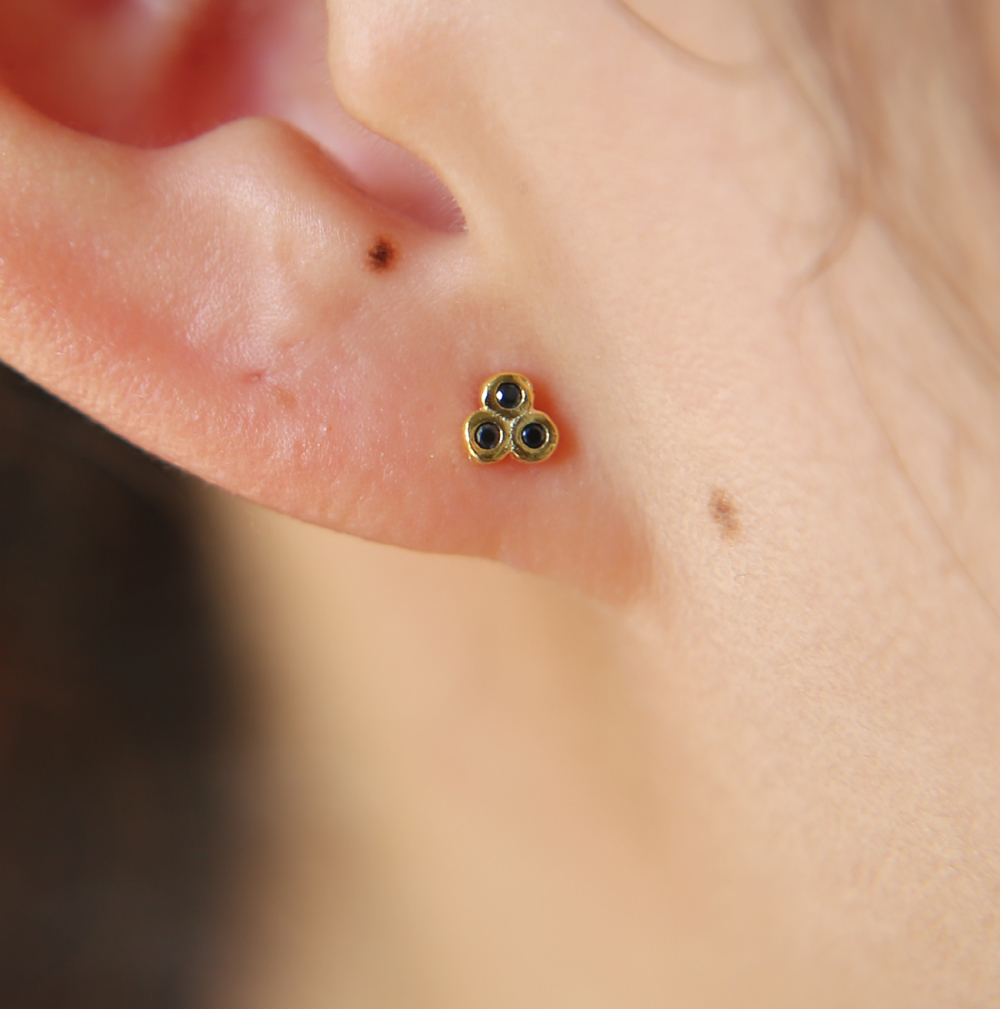 USA Seller Ladybug Earrings Genuine Sterling Silver 925 Face Height 7 mm
