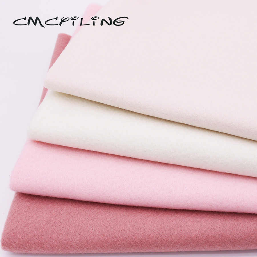 CMCYILING 4 Pcs/Lot,45*55cm Soft Felt Fabric For Kids Needlework DIY Sewing Dolls Crafts 1.2 MM Thickness Polyester Cloth