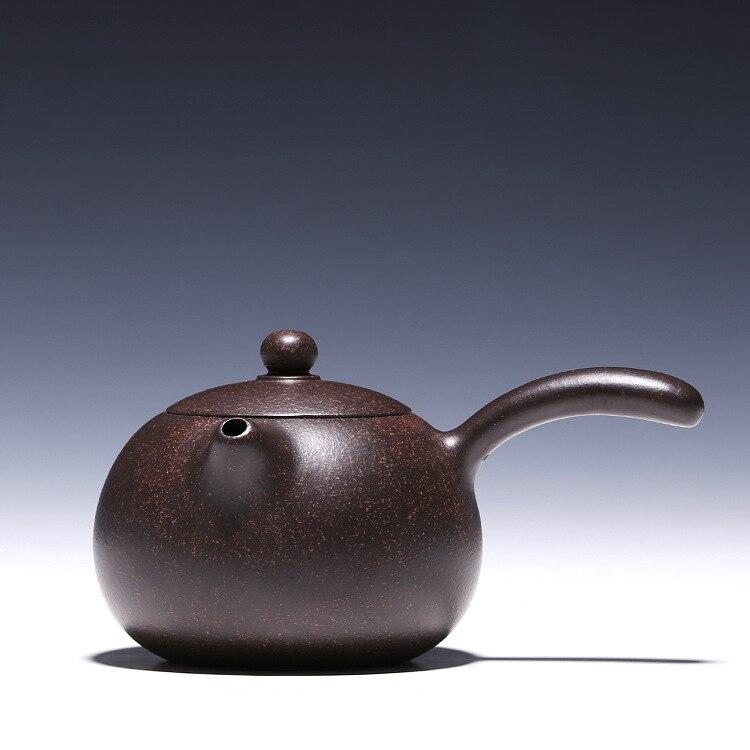 H1576 Shi Tang Yu pot about 230cc authentic Yixing famous teapot ore black steel Zhu mud