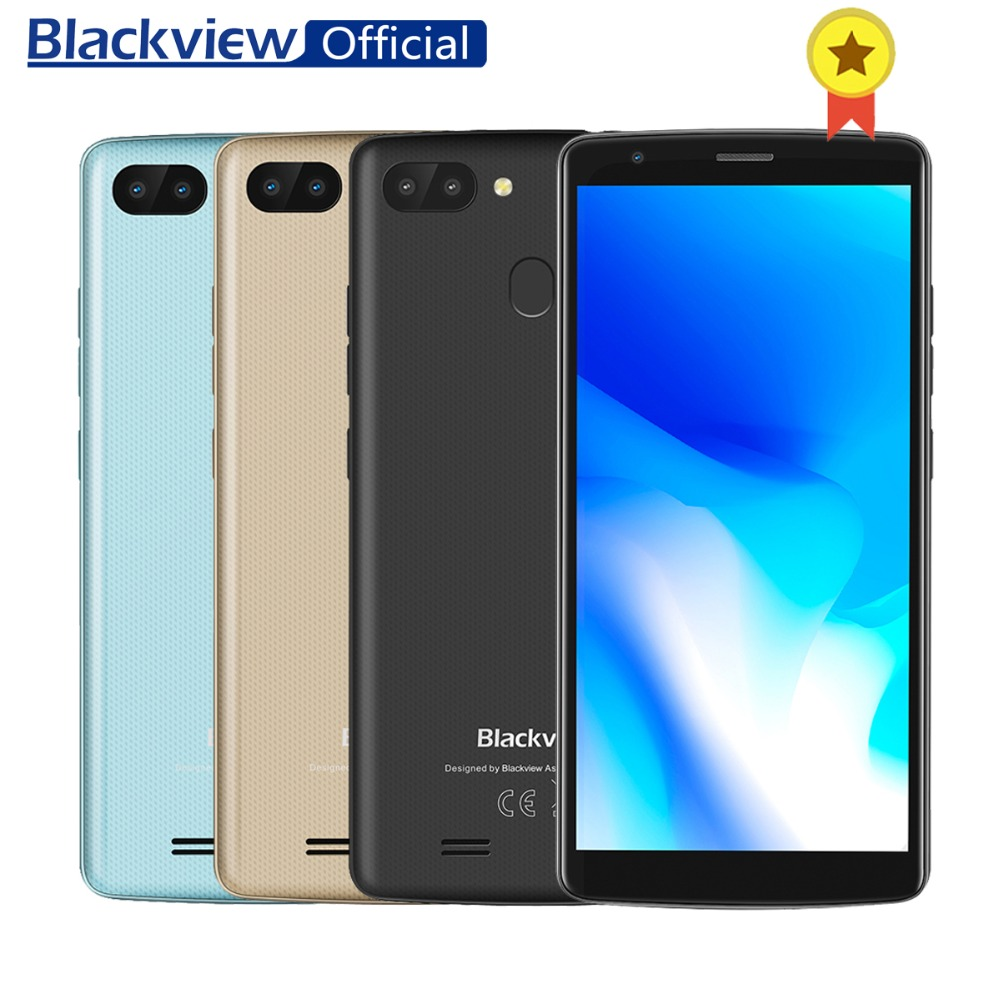 US $79 99 |Blackview A20 Pro 5 5inch 18:9 Full Screen 2GB RAM 16GB ROM  MT6739WAL Quad Core Android 8 1 Fingerprint Dual SIM 4G Smartphone-in  Mobile
