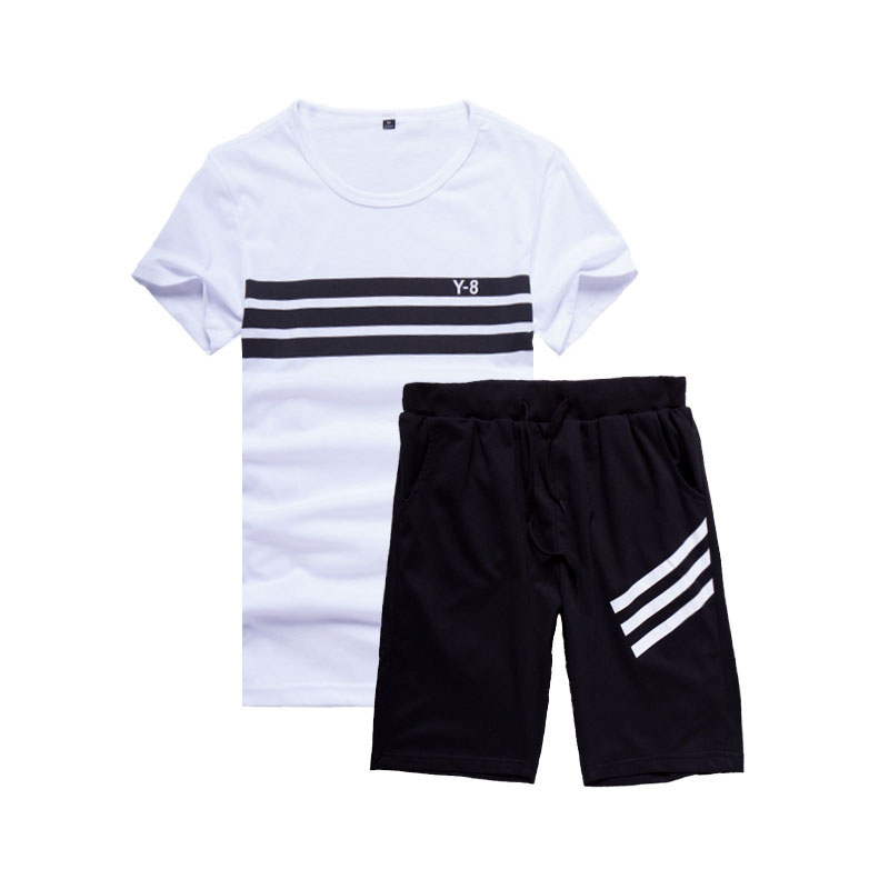 Brand 4XL New Men's Short Sleeve Sportwear Suit Summer Designer Printing Cool Casual Short Sets Men Leisure Suits AFY827