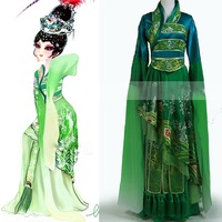 Four Great Beauty Diao Chan Unisex Li YuGang Cross gender Cosplay Gorgeous Delicate Embroidery Stage Show Costume with Tailing