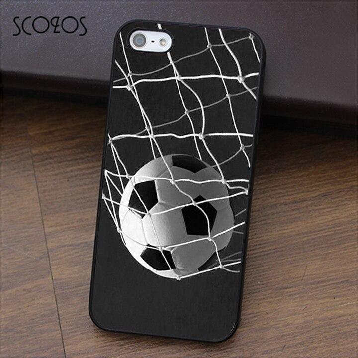 SCOZOS Soccer Ball in Net Football Futbol Goal phone case for iphone X 4 4s 5 5s Se 5C 6 6s 7 8 6&6s plus 7 plus 8 plus #ea326