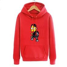 The Simpsons X 23 Hip hop Men's hoodies