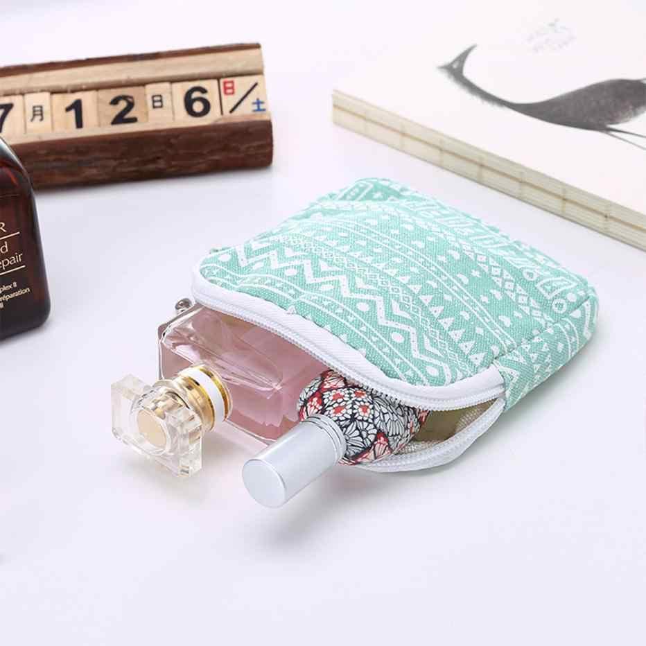 Девушка хлопок белье полотенце санитарный коврик держатель Кнопка сумка чехол Уход за ногами держатель милый органайзер для хранения моющийся кошелек # YL5
