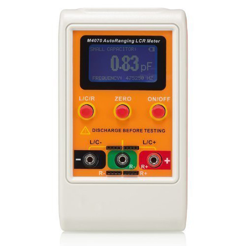 M4070 AutoRanging LCR Meter Up to 100H 100mF 20MR, 1% accuracy 5 digit display Orange professional capacitance inductance meter m4070 multimeter autoranging lcr bridge meter 100h 100mf 20mr with smd test clip