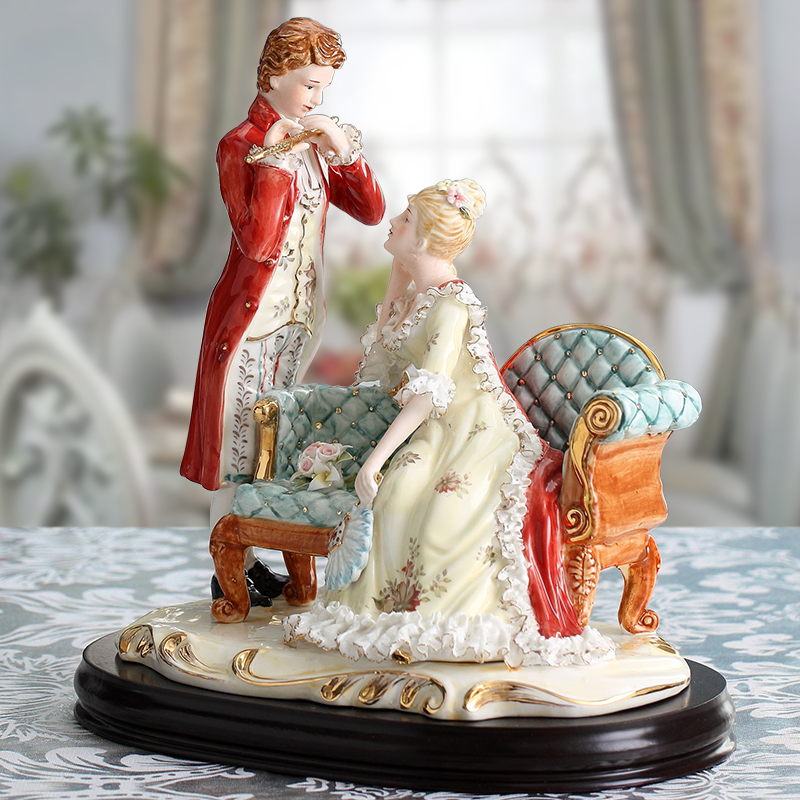 noble lady of sweethearts of Europe type western character places room of pottery and porcelain sitting room adornment costly image