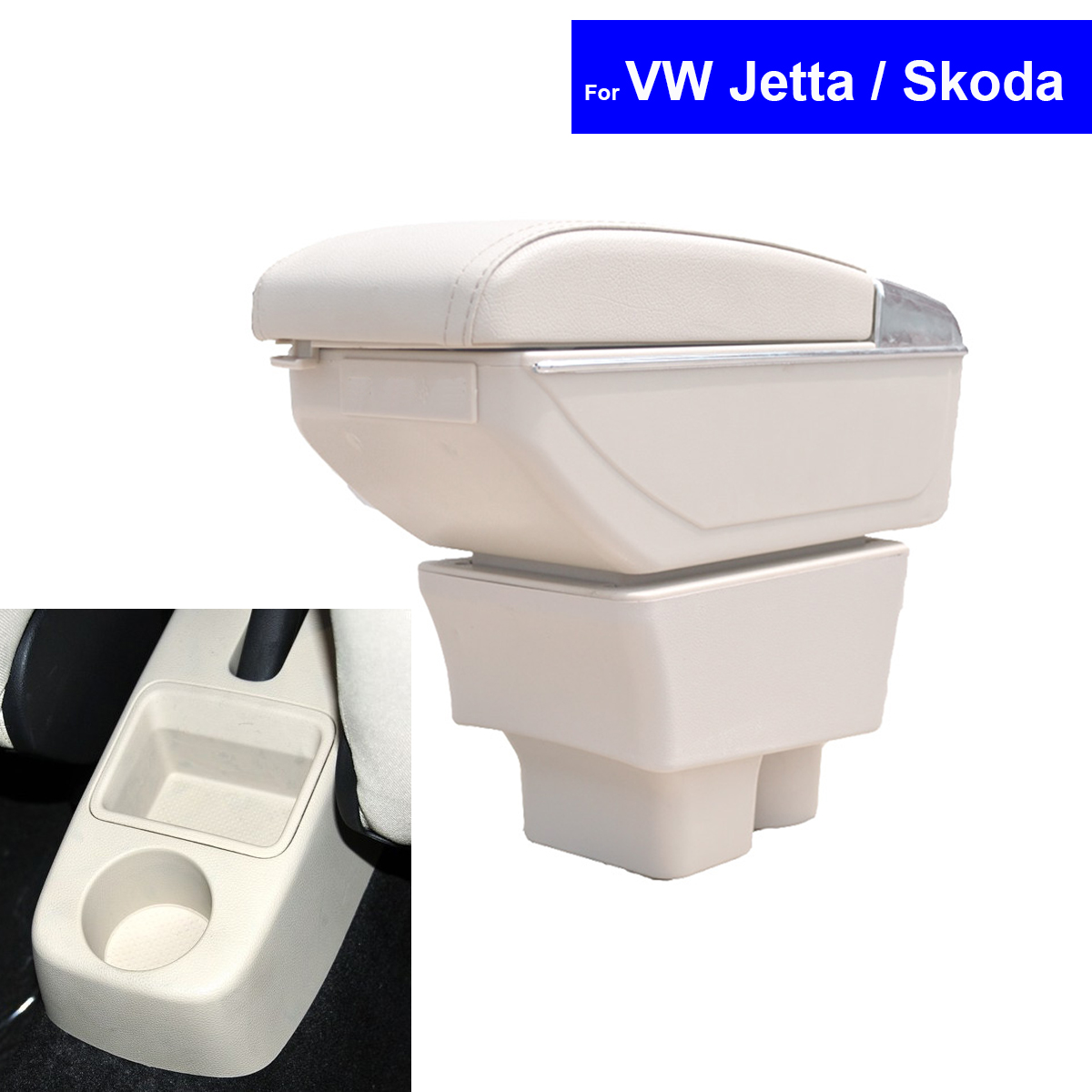 Leather Car Center Console Armrests Storage Box for VW Jetta / Skoda Superb Fabia Octavia 2008~2013 2014 2015 2016 Free Shipping car usb sd aux adapter digital music changer mp3 converter for skoda octavia 2007 2011 fits select oem radios