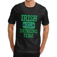 Fashion Men Mens Cotton Novelty Gift Joke Design Irish Drinking Team T Shirt White Medium 2016