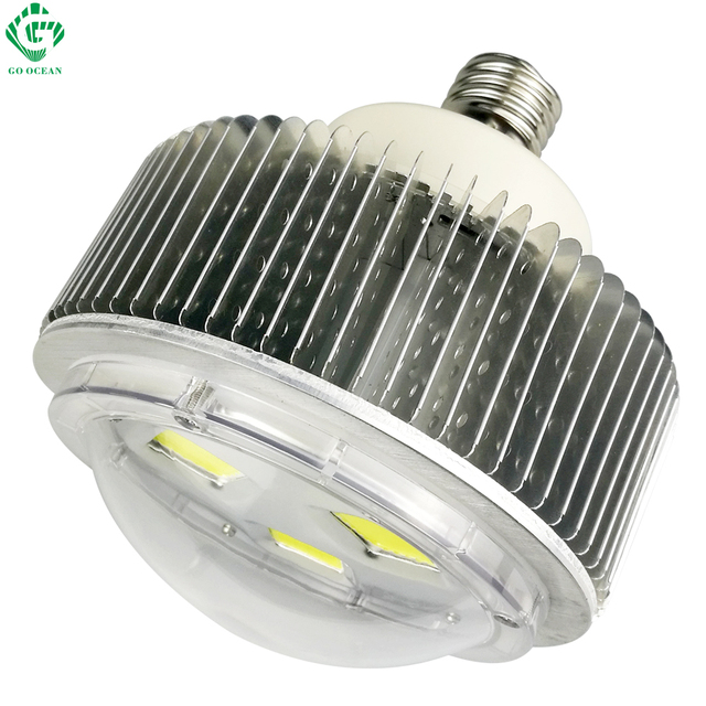 New Super Bright Snap On Led Garage Work Light 2000: COB E40 90W 100W LED High Bay Light Workshop Supermarket