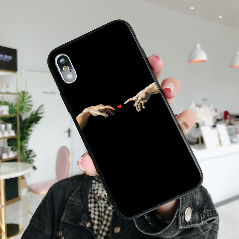 For iPhone XS XR MAX XS10 Phone Cover Case for iPhone 7 8 6Plus SE 5 5S 6 6S 7 8Plus Funny David Statue Art Soft TPU silicone in Phone Pouches from Cellphones Telecommunications