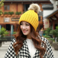 New Fashion Winter Cap Women Warm Woolen Knitted poio Hats For Gilrs Elastic Beanie Cap winter Woman Beanies men