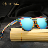 EZREAL New 2016 Fashion 100 Handmade Wood Wooden Sunglasses Cute Design For Men Women Gafas De