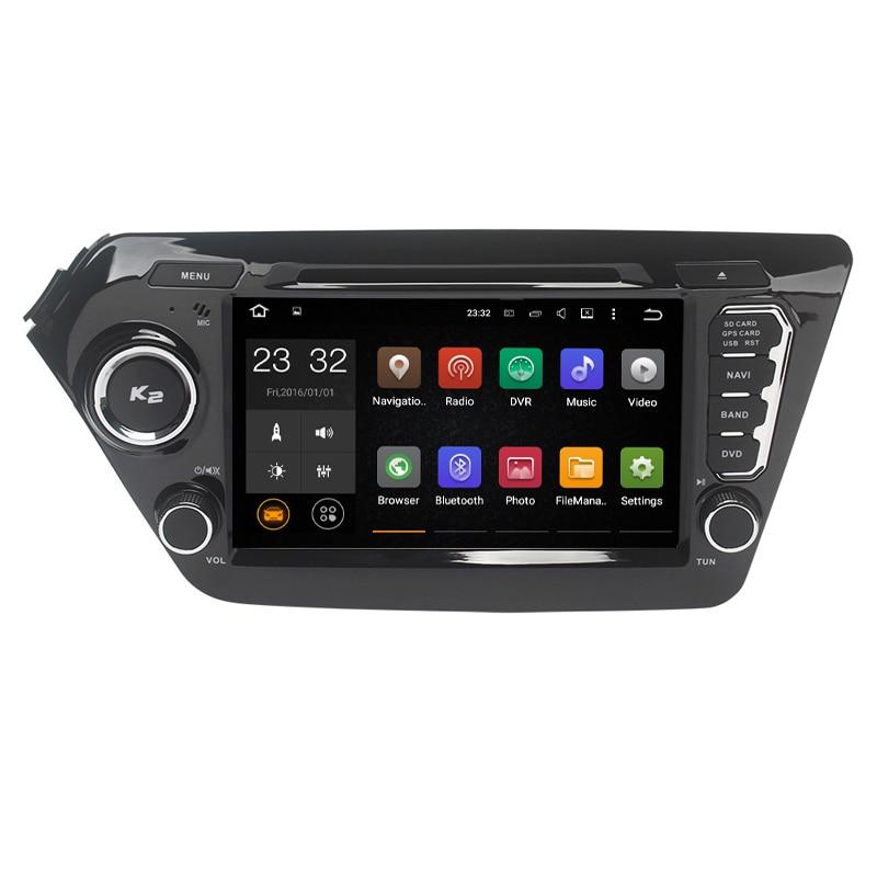 Android 8.1 2 Deux Din 8 pouce Lecteur DVD de Voiture Pour KIA/RIO/K2 2012 2013 2014 2015 -avec 2 gb RAM GPS Navigation Radio WIFI USB FM
