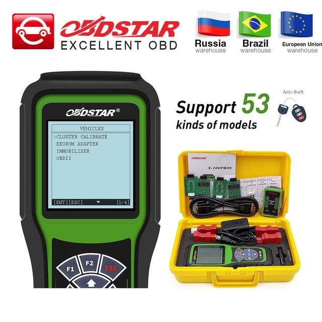 OBDSTAR X100 יתרונות C + D + E דגם אוטומטי מפתח מתכנת + אימובילייזר + מד מרחק התאמה עם EEprom מתאם