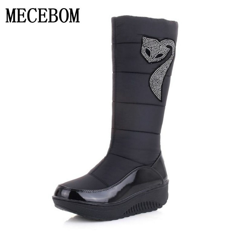 rain Plus size 35-44 new women winter boots warm cotton down shoes waterproof boots snow boots fur platform mid calf boots 45W hot 7 m height smile face free shipping inflatable air dancer sky dancer for event