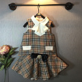Girls College Wind fake two vest shirt + skirt suit